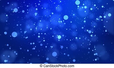 Beautifully glittering floating confetti flying with glowing bokeh light particles loop background.