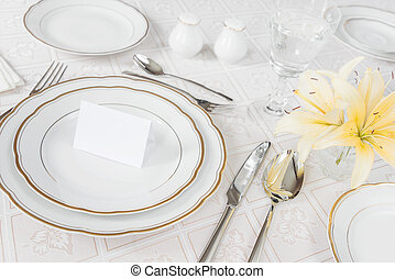 Beautifully laid table