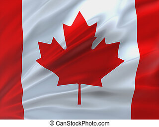 Beautifully waving flag of Canada.