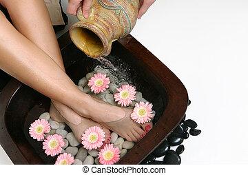 beautifying, pés
