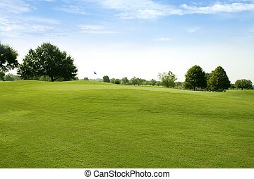 beautigul, 高爾夫球 綠色, 草, 運動, 領域