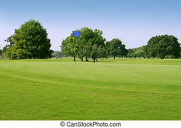 Beautigul Golf green grass sport fields