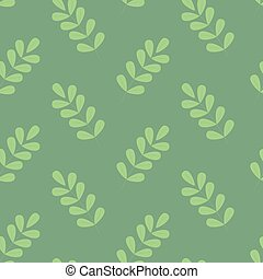 Beautiul simple green foliage seamless pattern