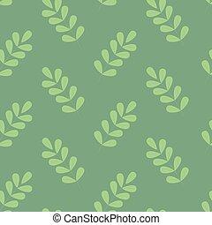 Beautiul simple green foliage seamless pattern