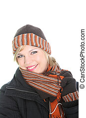 Beautiul stylish woman in winter outfit