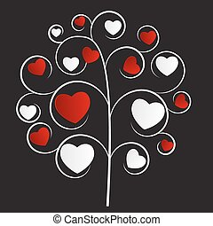 Beautuful Heart Tree Vector Illustration