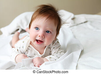beautuful redhair infant - portrait of beautuful redhair...
