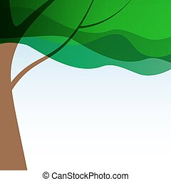 Beautuful Tree Background Vector Illustration