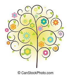 Beautuful Tree Vector Illustration