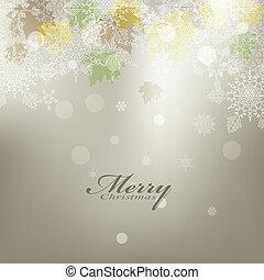 beauty, achtergrond, kaart, kerstmis