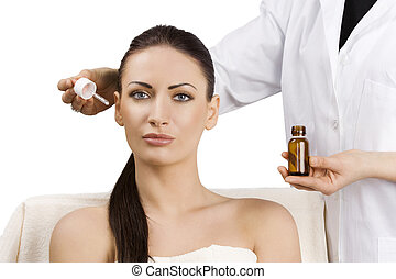 beauty adv portrait - beauty advertising portrait of...
