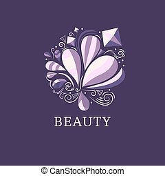 Beauty and fashion logo template.