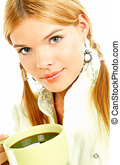 Beauty and Fresh 2 - Portrait of attractive beautiful young...