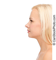 profile portrait of young woman