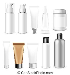 Beauty and health vector - Make up. Tube of cream or gel...