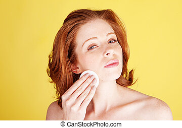 Beauty And Skincare - A beauty shot of an attractive redhead...