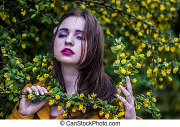 Beauty and young model