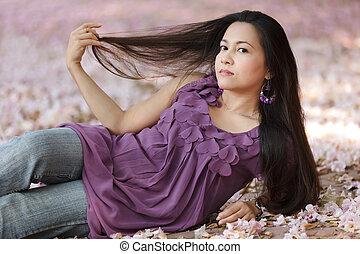 beauty asian woman