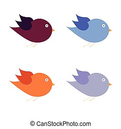 beauty bird color art vector illustration