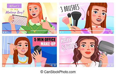 Beauty bloggers live broadcast, streaming, video master ...