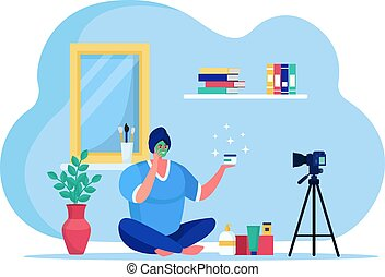 Beauty blogging online streaming, female character fashion ...