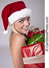 Beauty Blond Santa