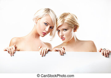 Beauty blonde women