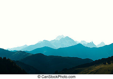 Beauty blue mountains
