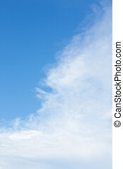 beauty blue sky with cloud background