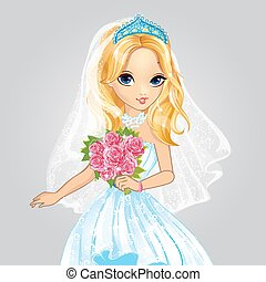 Beauty Bride Blonde Princess