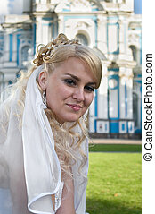 Beauty bride the blond. Portrait