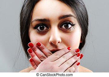 Beauty brunette female portrait