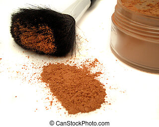 face powder - beauty brush and face powder