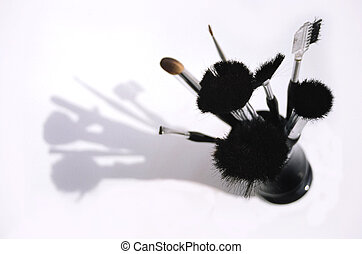 beauty brushes - A set of makeup brushes