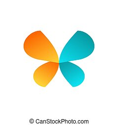 beauty butterfly logo symbol icon vector design
