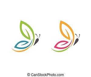 Beauty Butterfly Logo Template