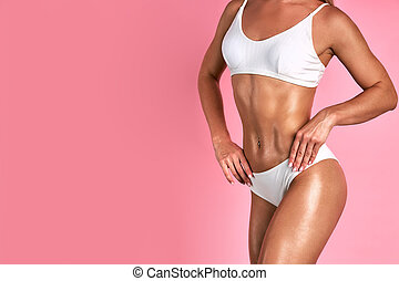 beauty, care., vrouw lichaam