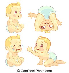 Beauty cartoon emotion baby set
