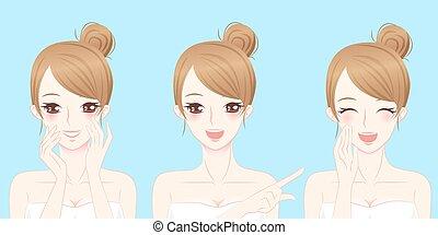 beauty cartoon skincare woman