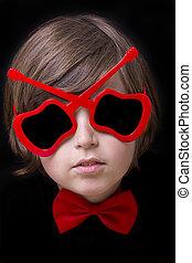 Beauty child boy in sunglasses
