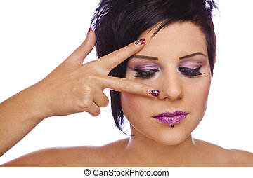 beauty concept - nails&lashes - A beauty concept - a...