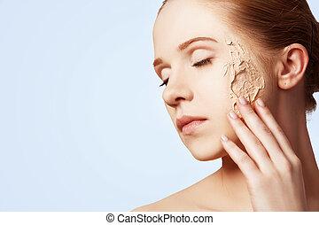beauty concept rejuvenation, renewal, skin care, skin problems