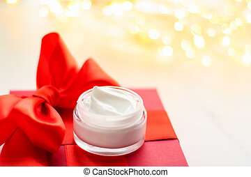 Luxury face cream as a holiday gift