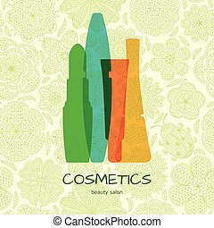Beauty cosmetics concept on abstrac