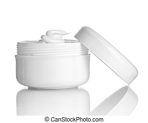 beauty cream container hygiene health care - close up of ...