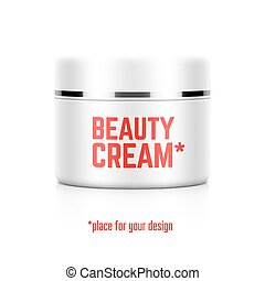 Beauty cream jar template