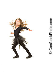 Beauty dancer girl in motion