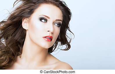 beauty face - woman with a beauty face