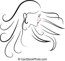 Beauty Face Woman Logo