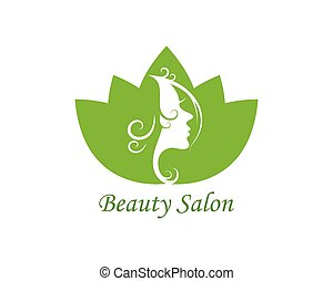 beauty face woman with leaves vector icon illustration